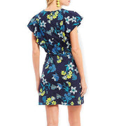 Elliston Floral Ruffle Knit Dress