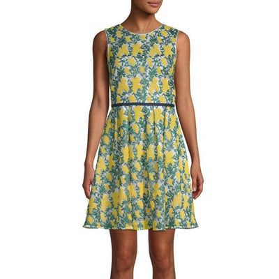 Collection Goldenrod Embroidered Dress