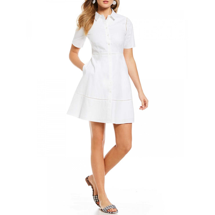 Poplin Lattice Shirtdress