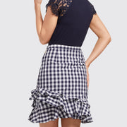 Dolly Check Flutter Skirt