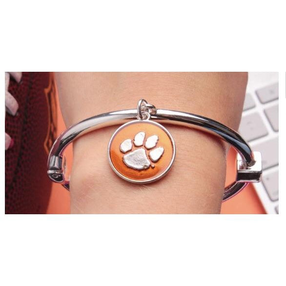 Clemson Tigers hinge bangle bracelet
