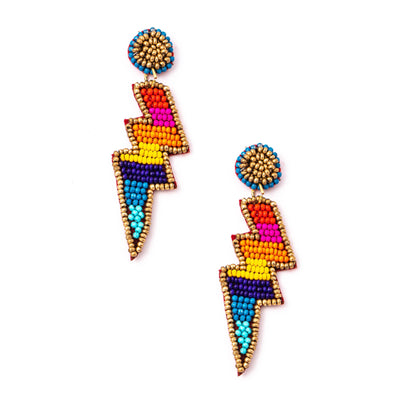 Rainbow Lightning Bolt Earrings