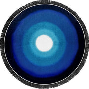 Blue Lagoon Terry Velour Round Beach Towel