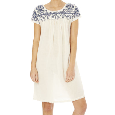 Lila Embroidered Dress