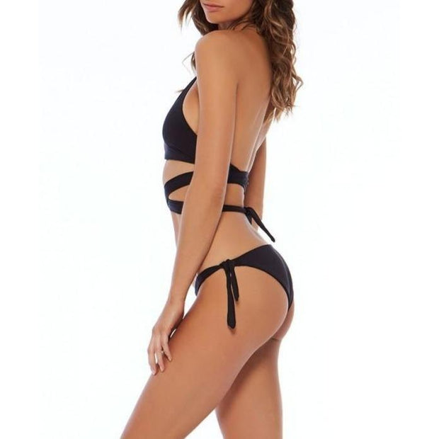 L Space Haven Side Tie Bikini Bottom Black
