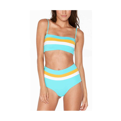 Color Block Rebel Stripe Bikini Top