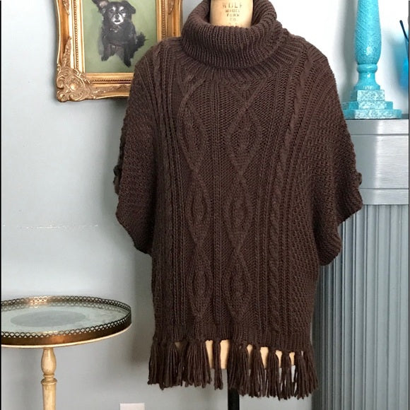 One Size Into the Woods Cowl Neck Pullover