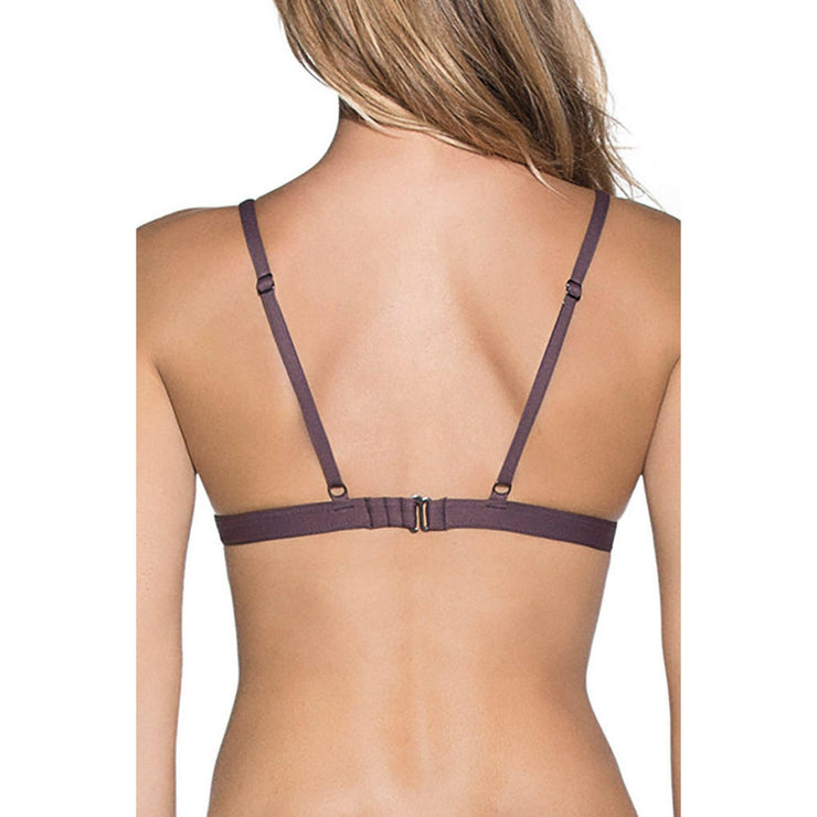 Fig Delightful Fixed Triangle Reversible Bikini Top