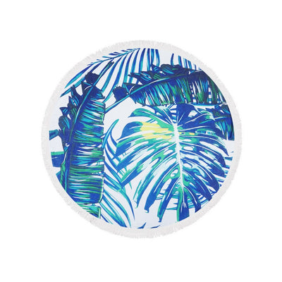 Palm Leaves Round Beach Towel