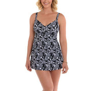 Mini Picks V Neck Swimdress