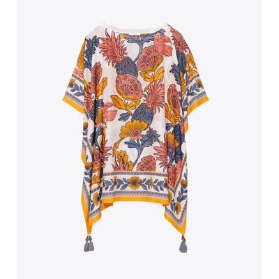 Orange Wonderland Vine Beach Caftan
