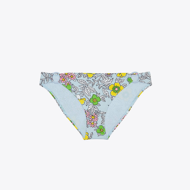 Wallpaper Floral Printed Ring Hipster Bikini Bottom