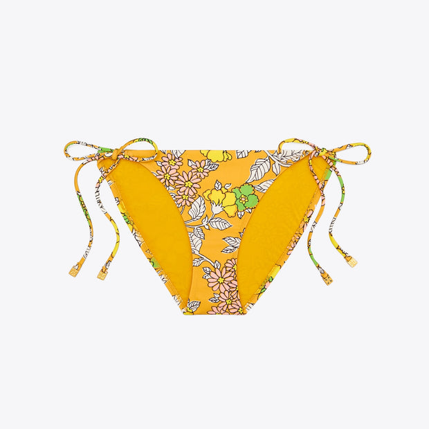 Wallpaper Floral Printed String Bikini Bottom