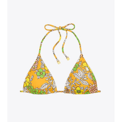 Wallpaper Floral Printed String Bikini Top