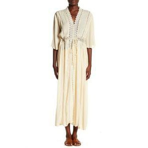 Natural Open Tie Cover Up Robe