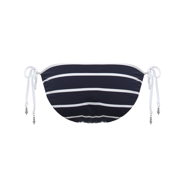 Castaway Stripe Hipster Tie Side Bikini Bottom