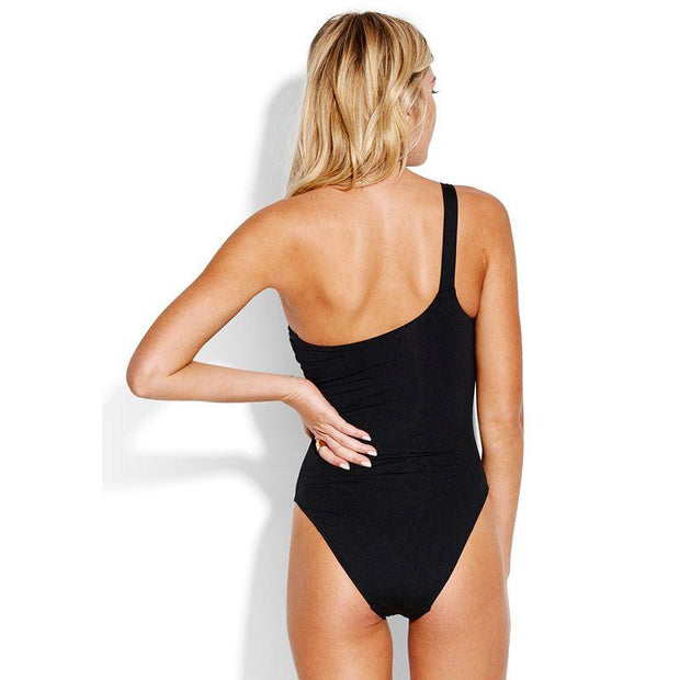 Solid Active One Shoulder Maillot One Piece