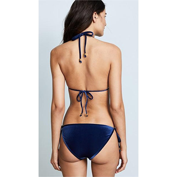 Ocean Velvet Triangle Bikini Top with Binding
