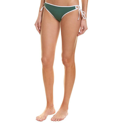 Solid Palm Side Tie Bikini Bottom