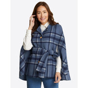 Reversible Buffalo Plaid Cape