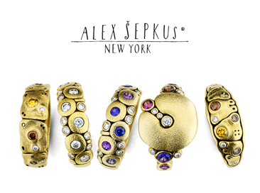 Alex Sepkus banner for Santa Fe Jewelry.