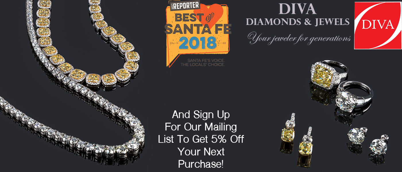 A Best of Santa Fe Jewelry Store banner.