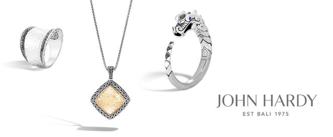 John Hardy Banner for Santa Fe Jewelry and Wedding rings.