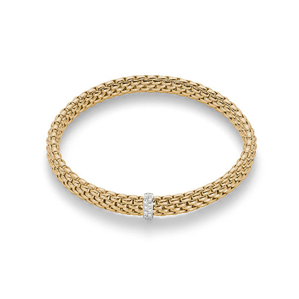 FOPE Flex'It 18K Yellow Gold Bracelet With Diamonds