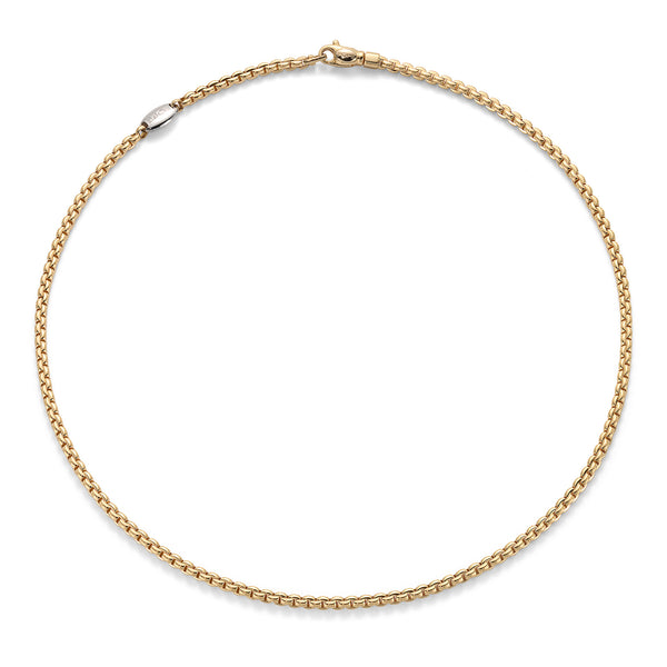 FOPE Yellow Gold Chain Necklace 18 Inch