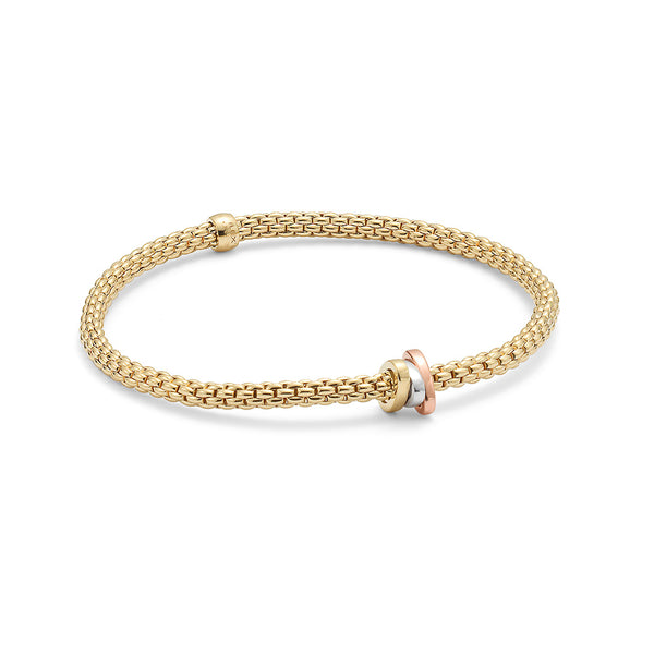 A gold chain bracelet by FOPE Santa Fe Jewelry
