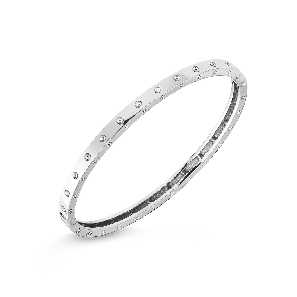 A single row diamond bangle made by Roberto Coin Santa Fe Jewelry.