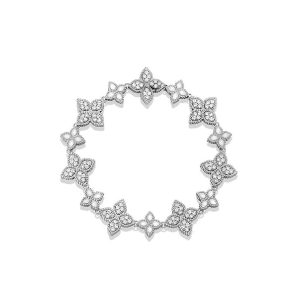 Full view of a diamond bracelet by Roberto Coin