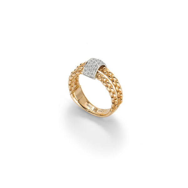 A FOPE ring with with white gold and diamonds Santa Fe Jewelry