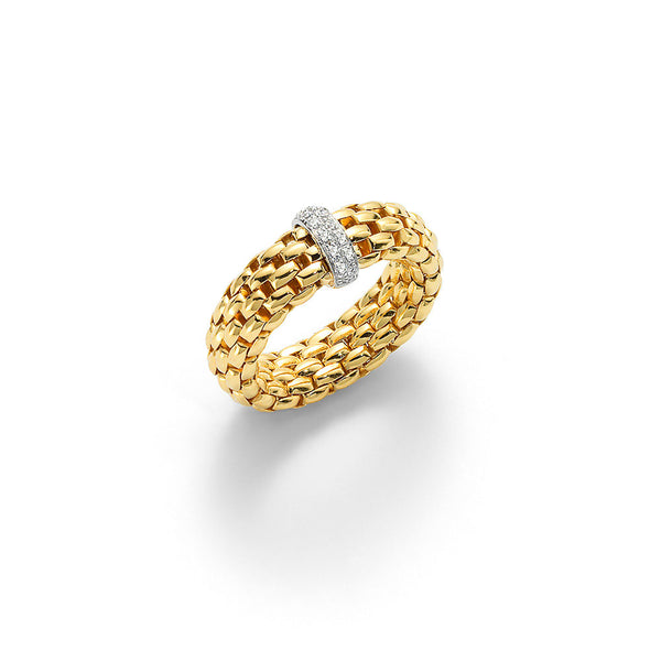 FOPE Flex'It 18K Gold Ring With Diamond Rondel Accent