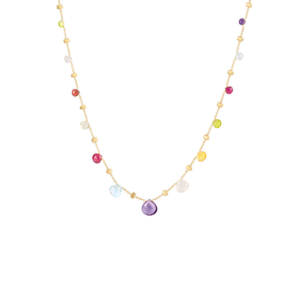 Marco Bicego Paradise Short Necklace with Mixed Gemstones in 18K Yellow Gold NJY0L