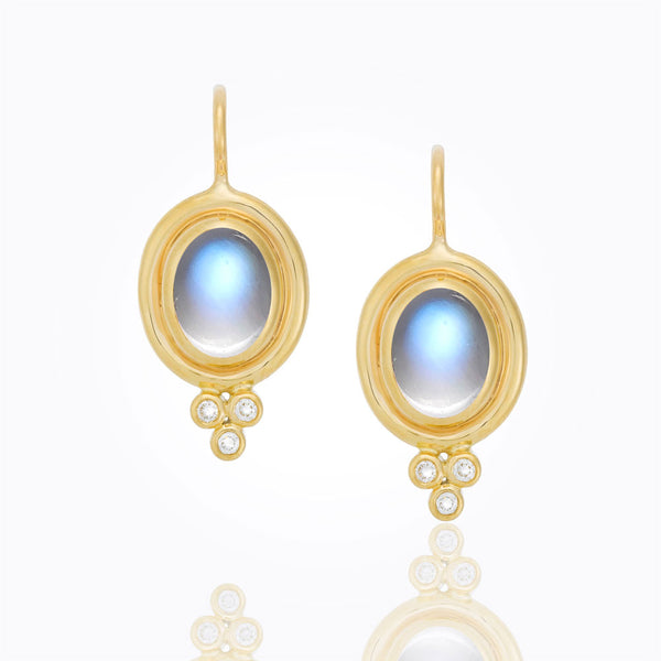 A Pair of Blue Moonstone Earrings by Temple St. Clair Santa Fe Jewelry