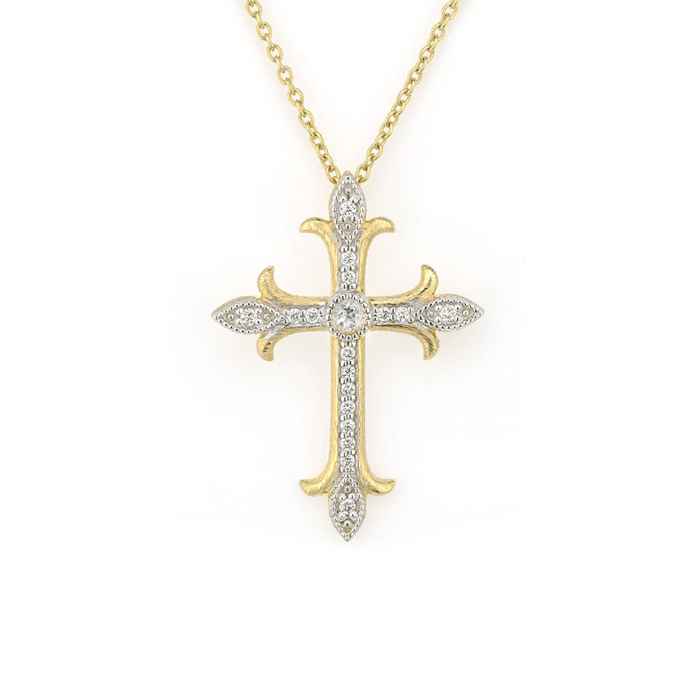 A cross pendant by Jude Frances Santa Fe Jewelry