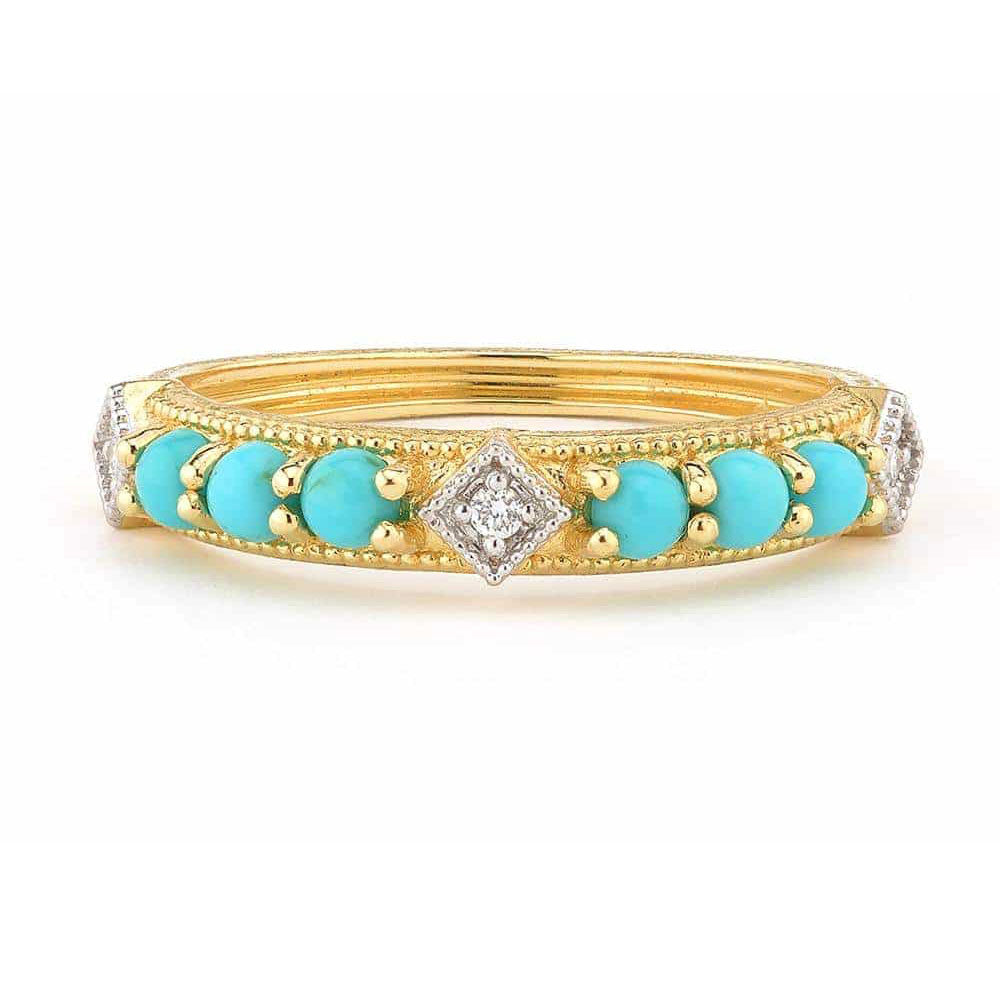 A Jude Frances turquoise and diamond ring.