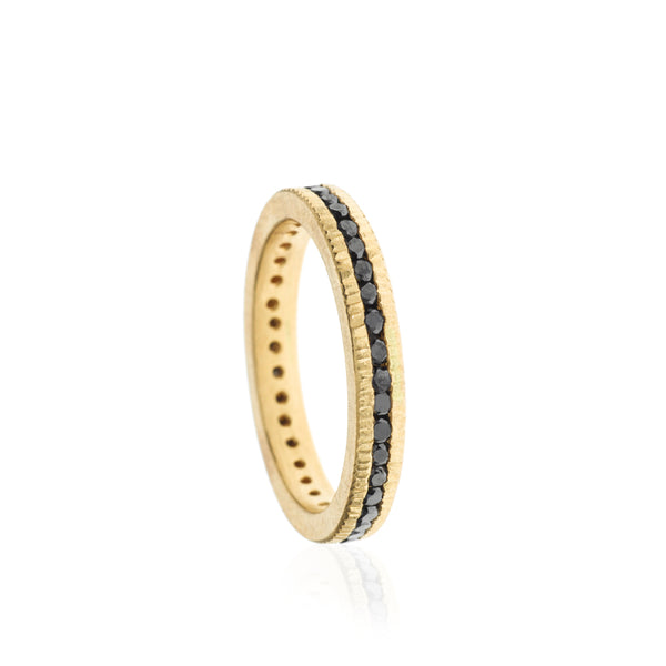 A todd reed eternity band set with raw diamonds Santa Fe Jewelry