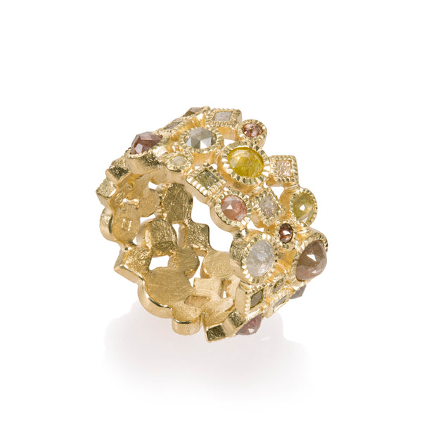 A Todd Reed diamond ring with multi-colored diamonds Santa Fe Jewelry