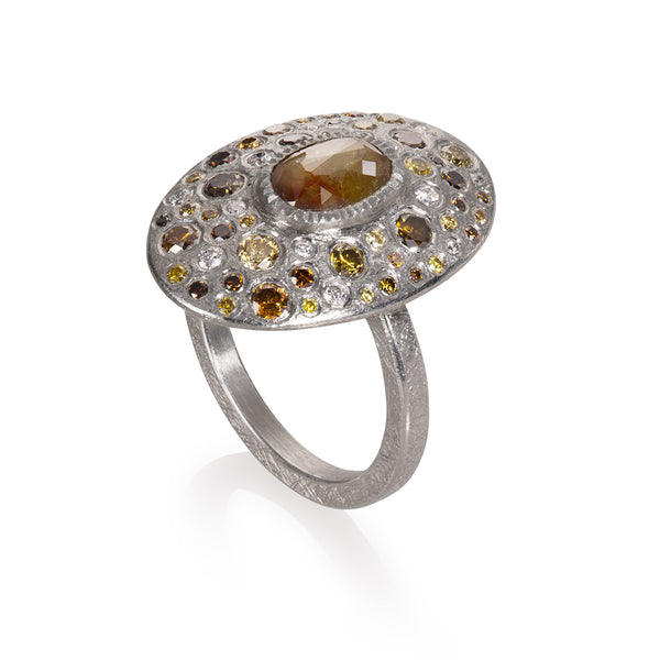 a Todd Reed Diamond Pallidium ring with diamonds Santa Fe Jewelry.