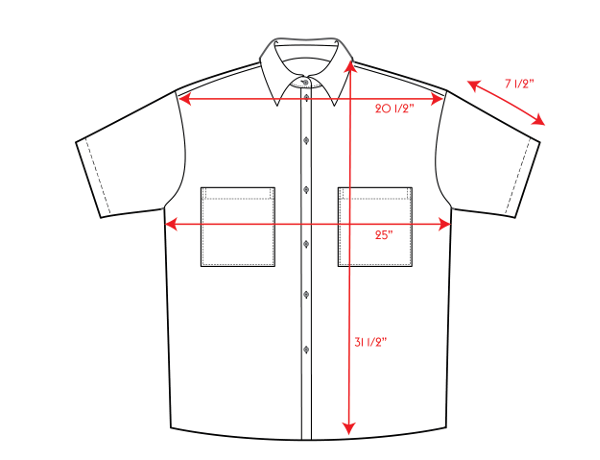 Wear To Button Down Measurements