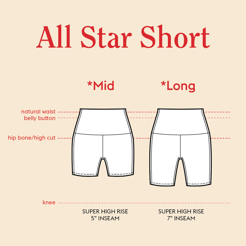 All Star Short - Compare Lengths