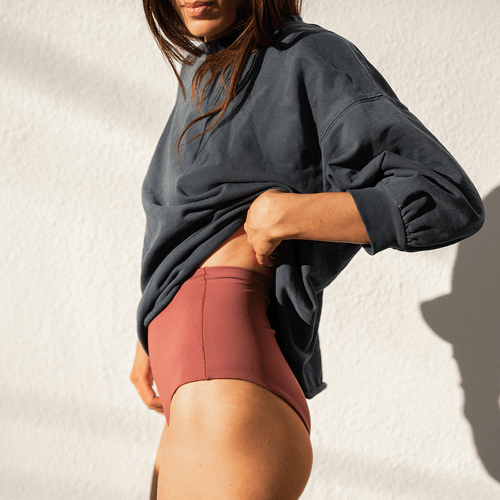 Sports & Rec Sweatshirt - Sprint + Hi Tide Bottom - Desert Plum
