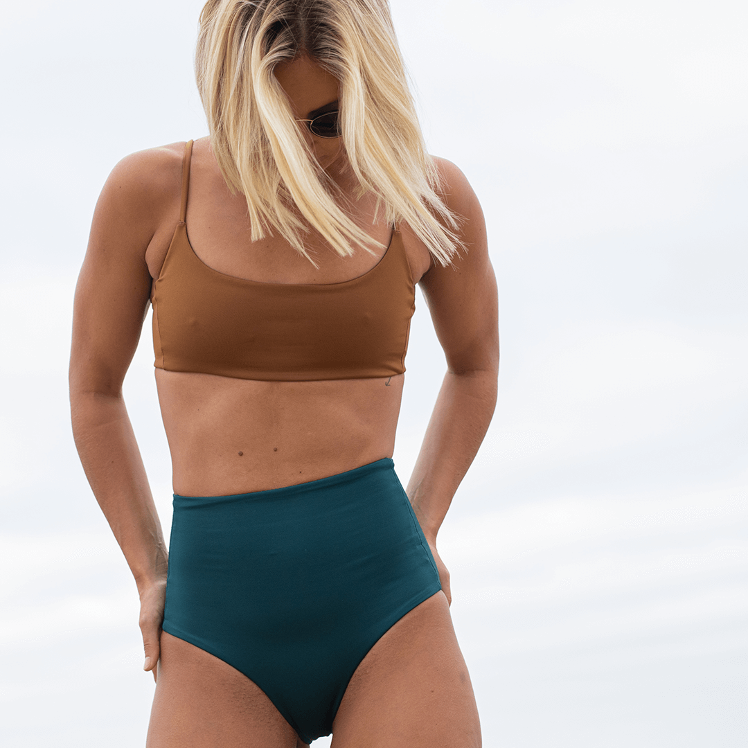 Pool Days Top - Tanlines + Hi Tide Bottoms- Deep End