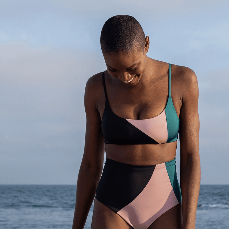 Hi Tide Bottom *Party Wave - Jet (Black) / Mauve It Mauve It (Pink) + Pool Days Top *Party Wave - Jet (Black) / Mauve It Mauve It (Pink)