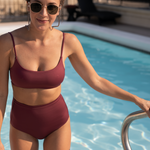 Pool Days Top - Desert Plum + Hi Tide Bottoms - Desert Plum
