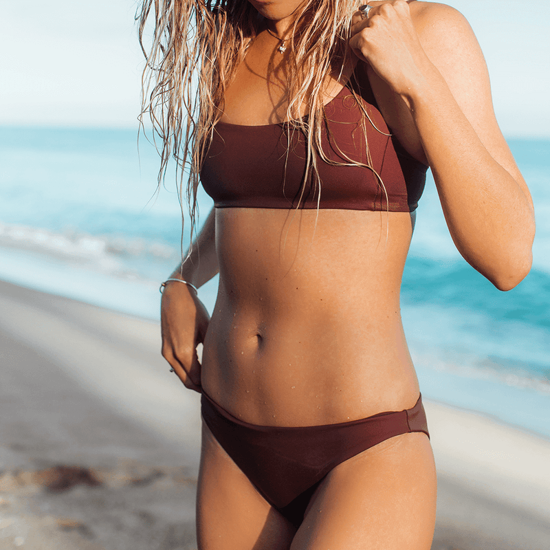 Wear To Bottom - Desert Plum + Pool Days Top - Desert Plum