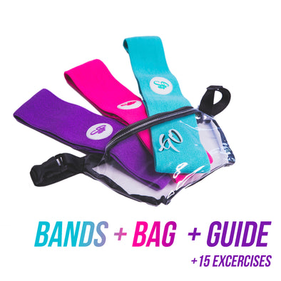 3-Pack Resistance Bands + Pouch