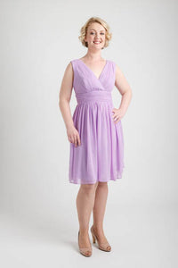 Light Purple Double V-neck Short Dress (size 10)